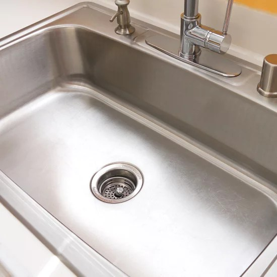 how to clean your stainless steel sink
