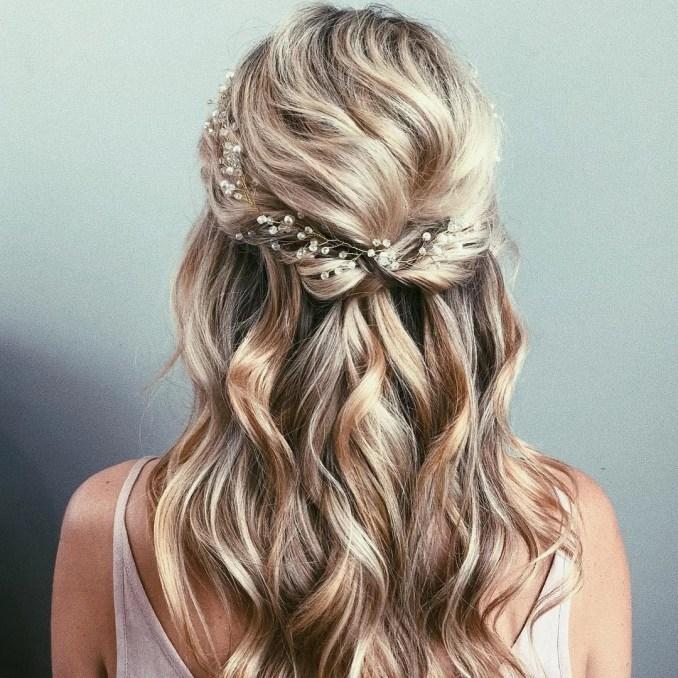 half up wedding hair ideas   popsugar beauty