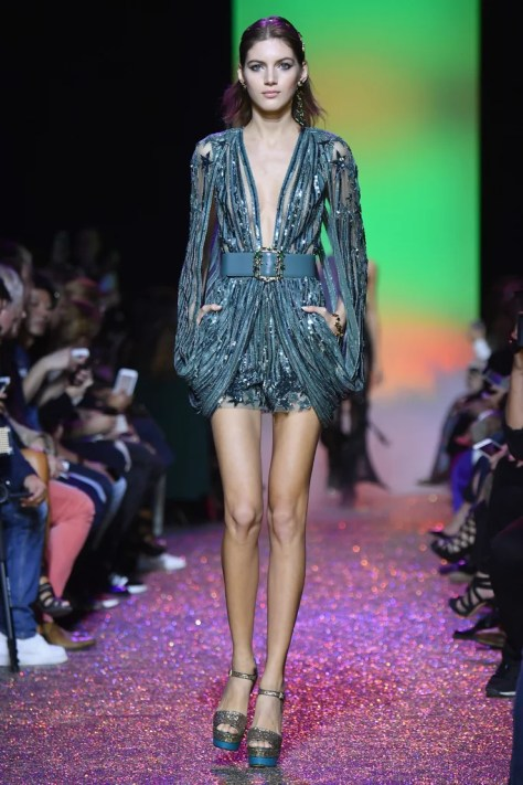 The dress appeared at Paris Fashion Week on Oct. 1.
