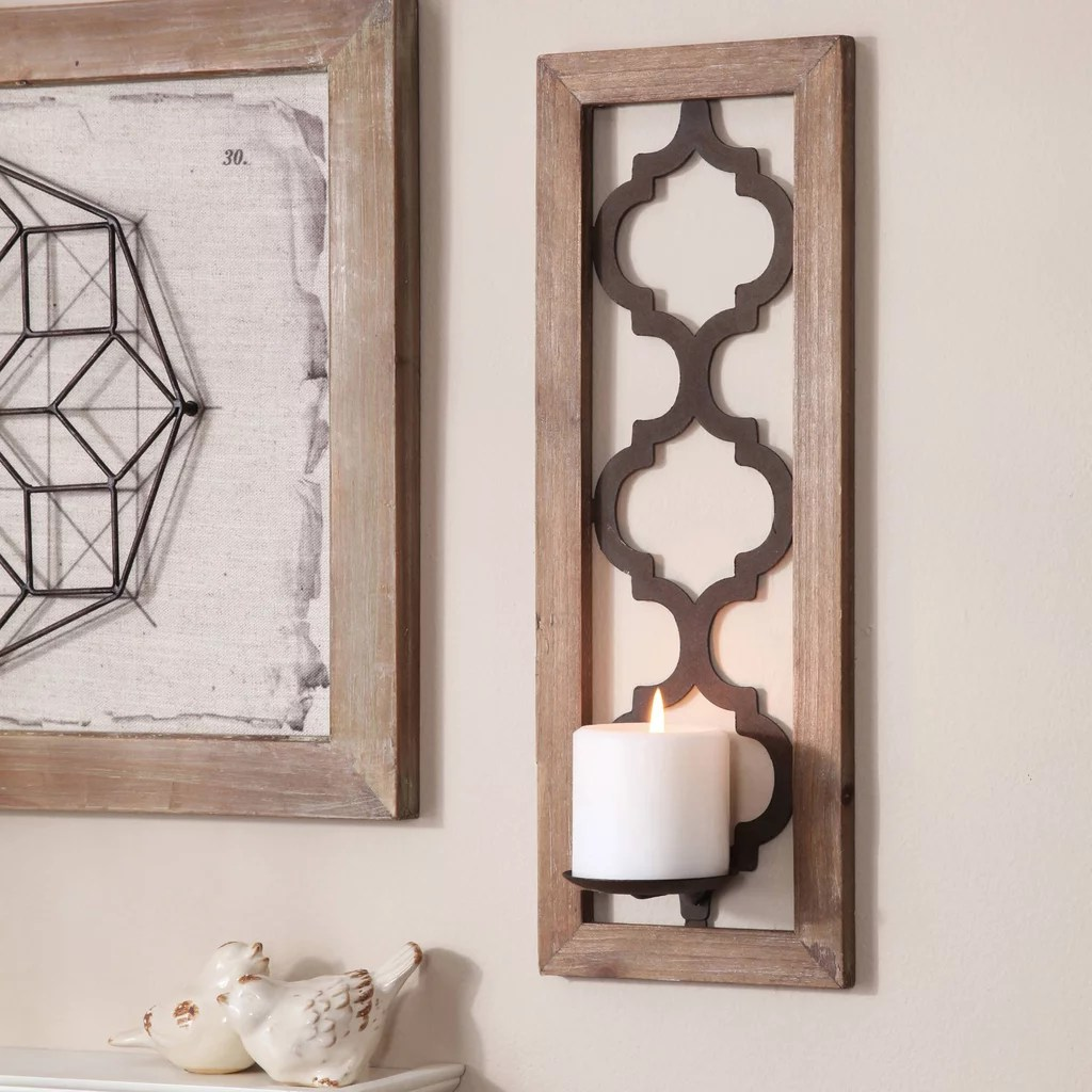 Quatrefoil Wall Sconce   Walmart Fall Decor   POPSUGAR Home Photo 11 Quatrefoil Wall Sconce