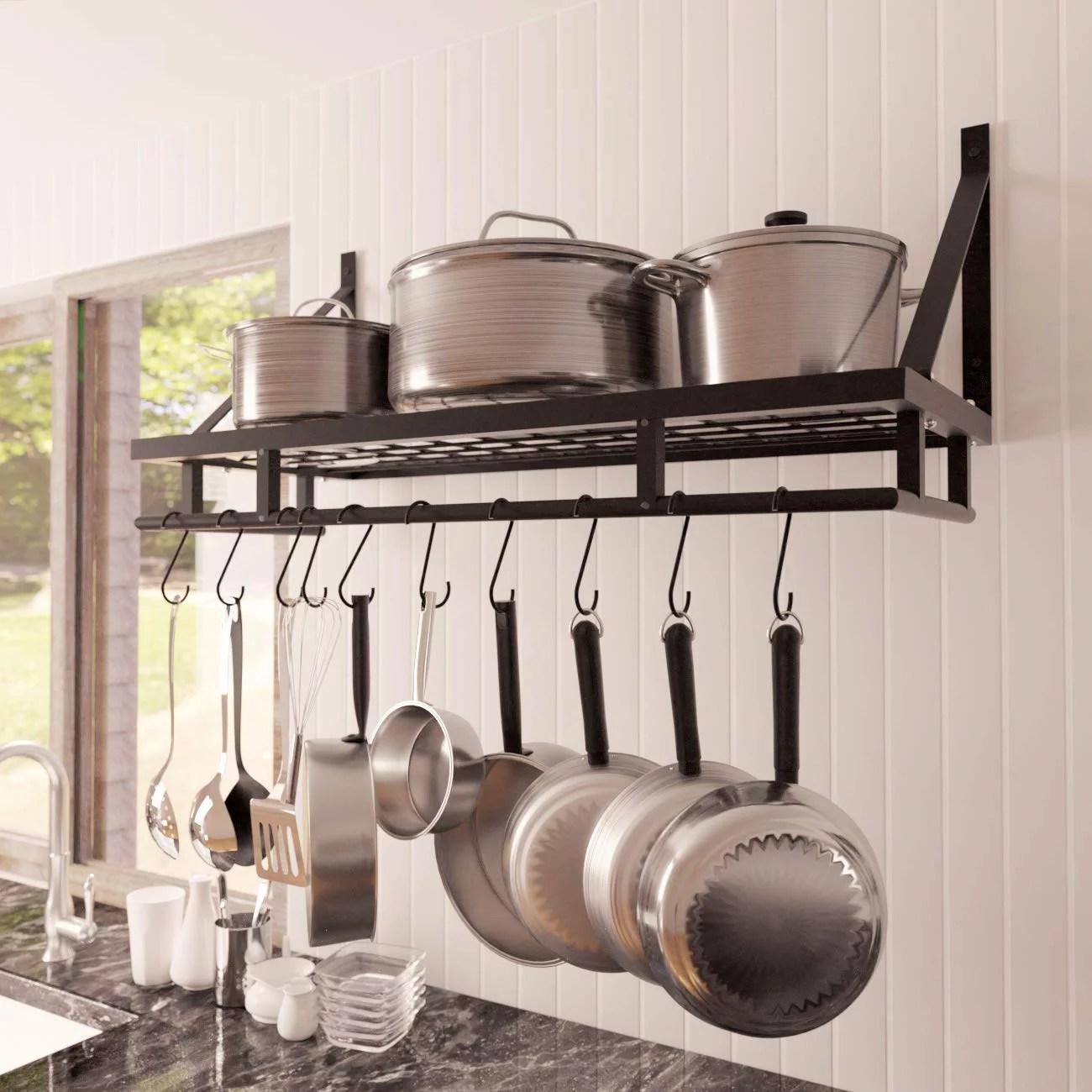 kes kitchen pan pot rack clear your