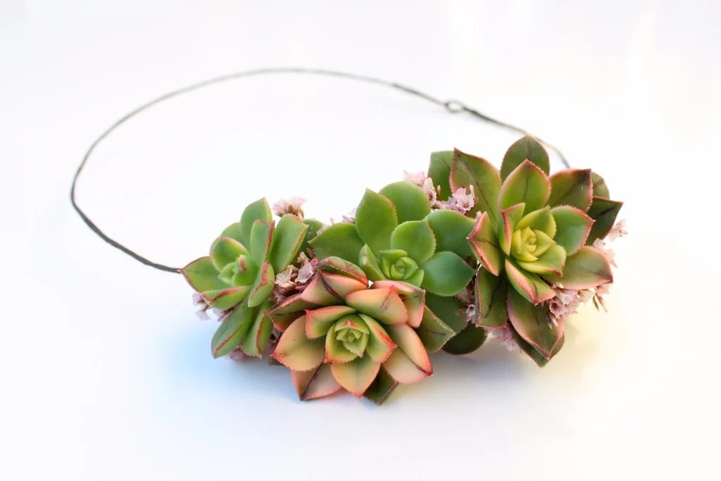 Succulent Wedding Hair Accessories From Etsy POPSUGAR Beauty