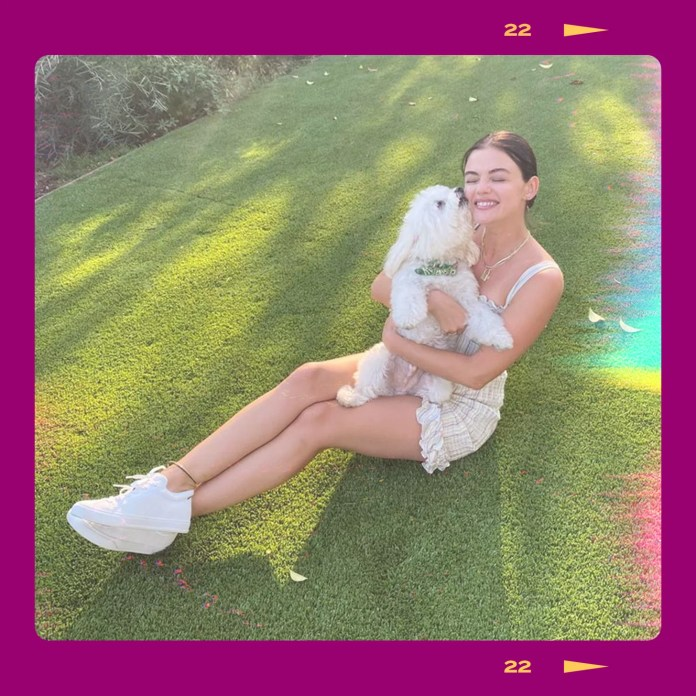Lucy Hale Interview About Her Canine Elvis