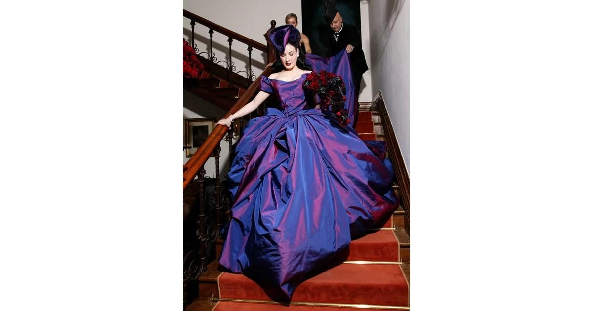 Freaky Or Fabulous? Dita Von Teese's Purple Vivienne