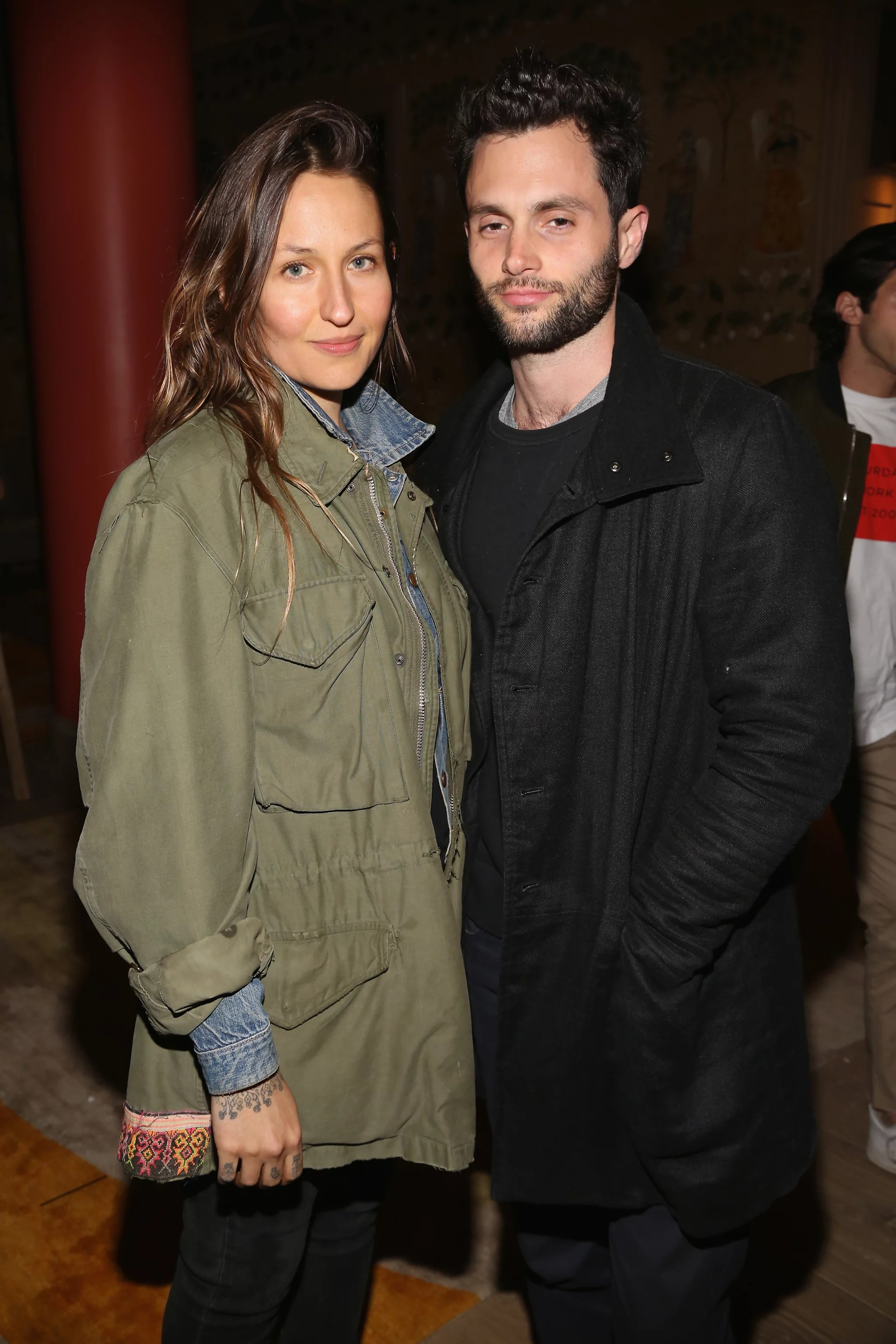 NEW YORK, NY - APRIL 30: Domino Kirke and Penn Badgley attend The Weinstein Company and Lyft host a special screening of
