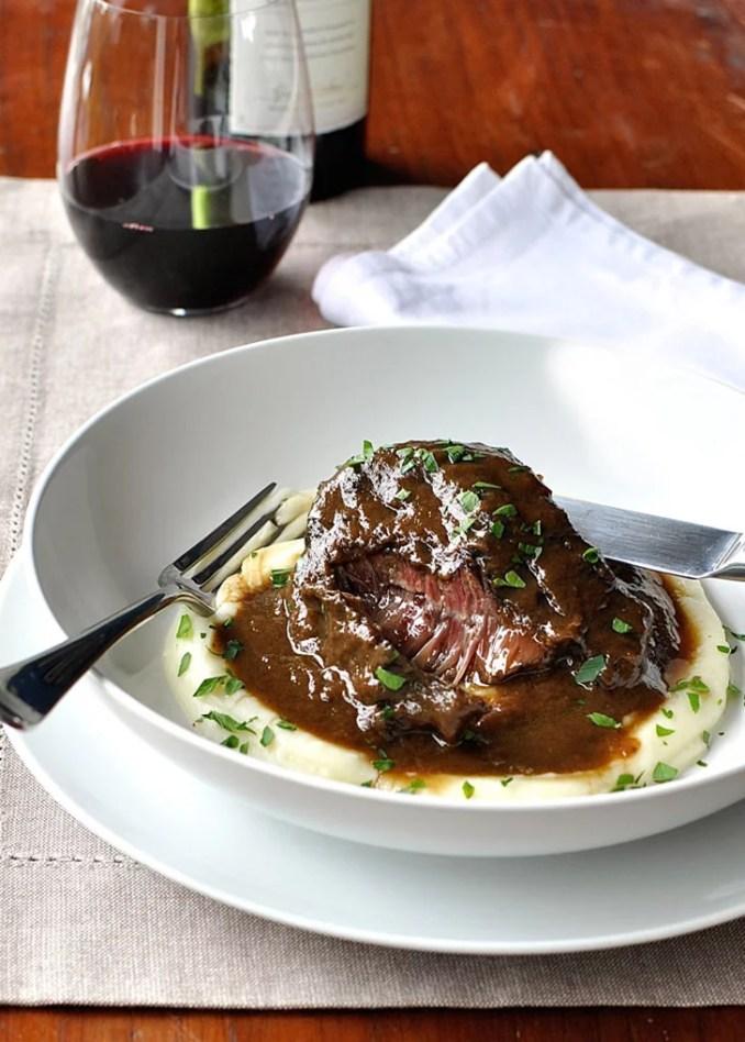 Slow-Cooker Red Wine Beef Cheeks   Slow-Cooker Beef
