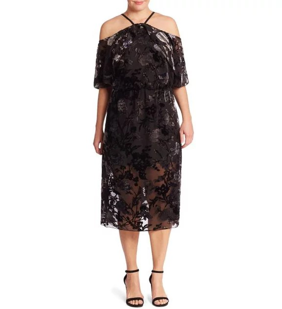 Shop the ABS Plus Floral Velvet Burnout Dress ($388) for fancier events.