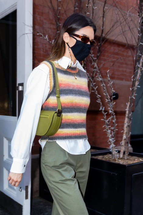 Fashion, Shopping & Style | Kendall Jenner's Colorful Mango Sweater Vest  Can Be Yours For $50 | POPSUGAR Fashion Photo 3