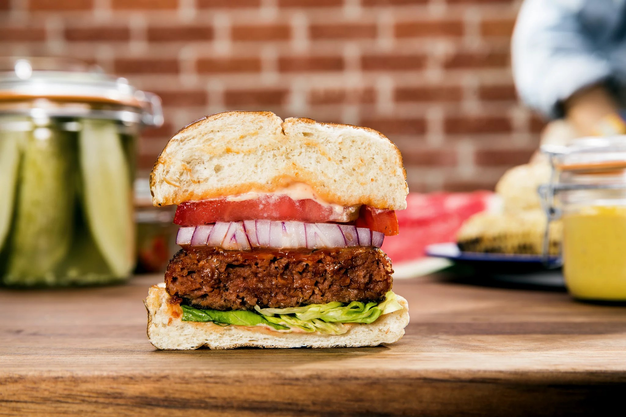 planet based impossible burger meat