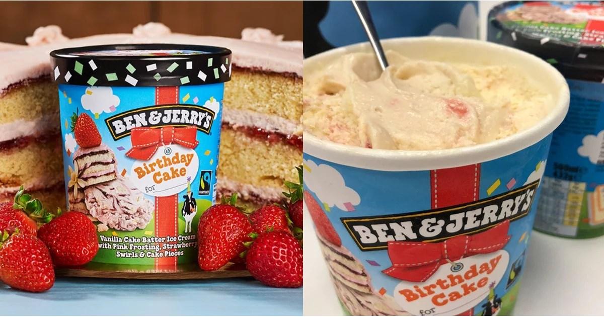 Ben Jerry S Birthday Cake Flavour Review Popsugar Food Uk