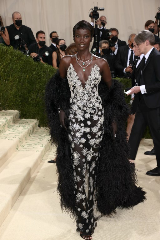 Anok Yai at the 2021 Met Gala   Every Look From the 2021 Met Gala Red  Carpet That We Can't Stop Talking About (So Far)   POPSUGAR Fashion Photo 68