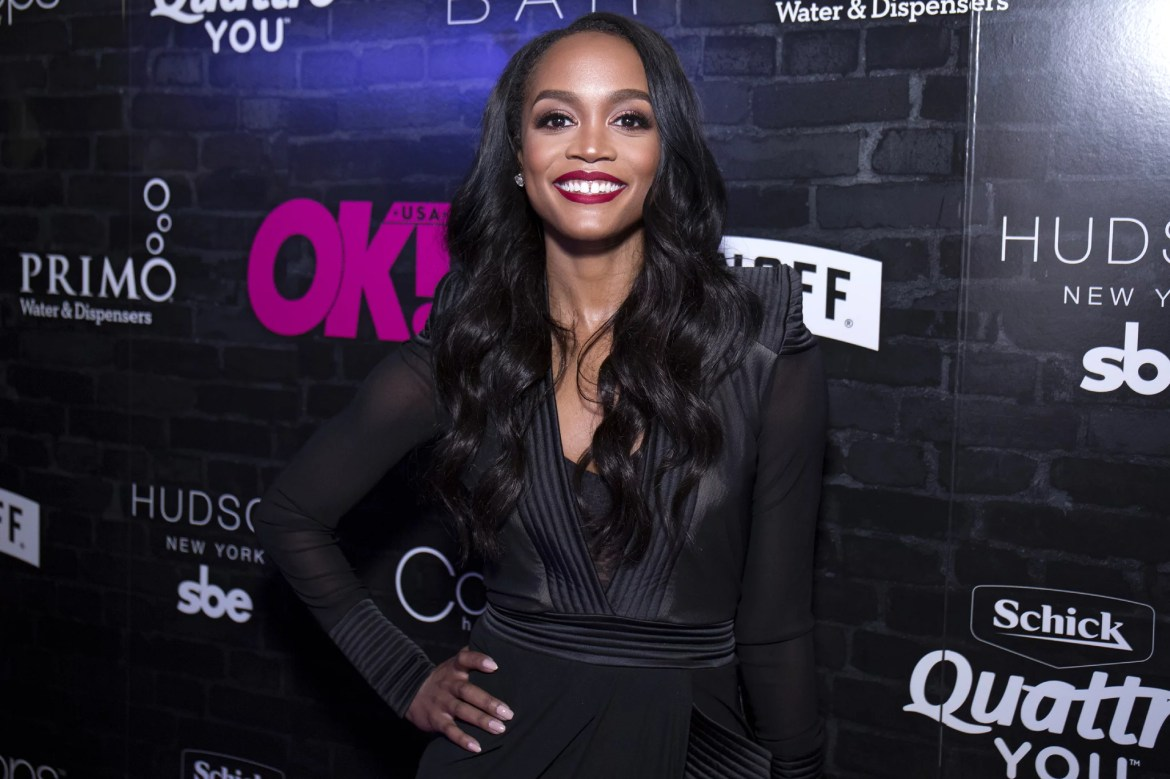 NEW YORK, NY - SEPTEMBER 13:  Rachel Lindsay of 'The Bachelorette' attends OK! Magazine's Fall Fashion Week 2017 Event at Hudson Hotel on September 13, 2017 in New York City.  (Photo by Santiago Felipe/WireImage,)