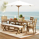 Portside Outdoor Expandable Dining Table And Bench Set West Elm Is Having A Huge Sale On Outdoor Furniture And Wow We Want It All Popsugar Home Photo 4