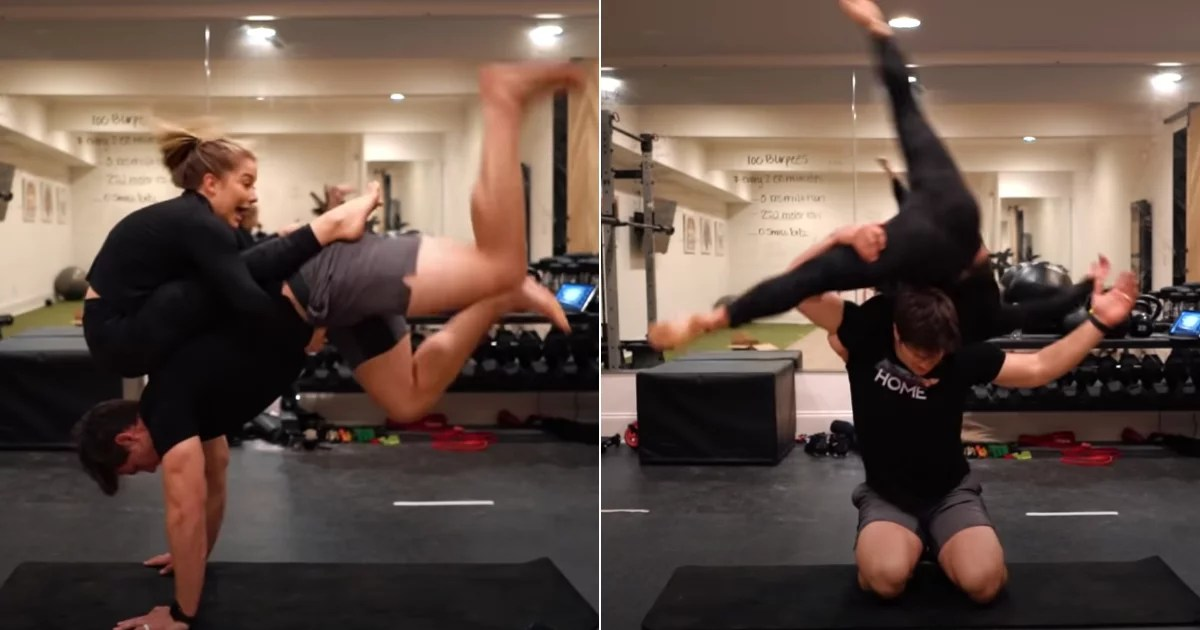 Somehow, Shawn Johnson and Her Husband Got Out of This Acro-Yoga Challenge Alive