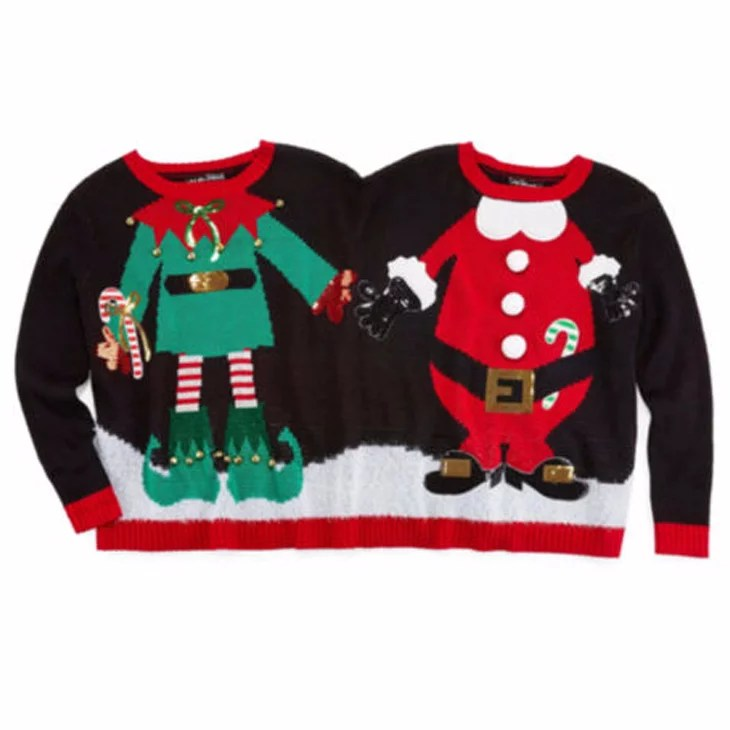 Elf Christmas Sweaters Christmas Cards