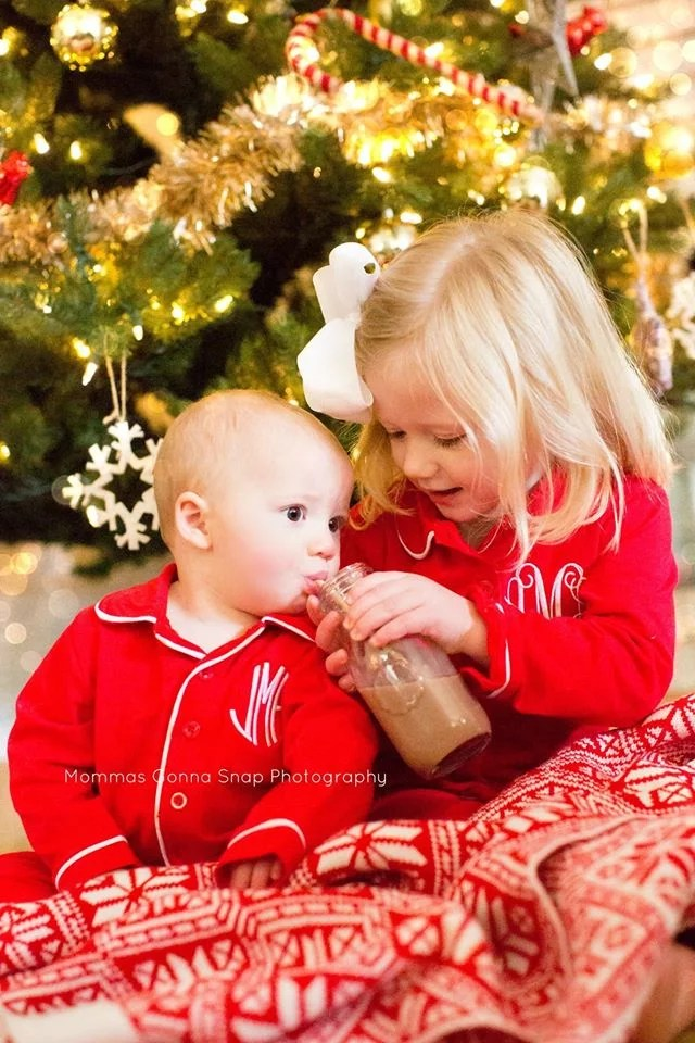Monogrammed Pajamas Christmas Card Picture Ideas