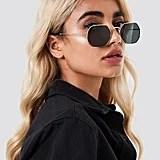 Na-kd Octagon Frame Sunglasses Black/Gold