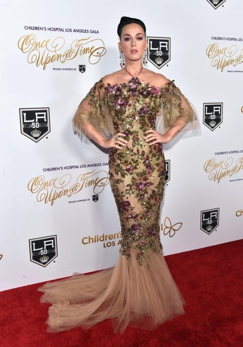 Katy Perry Wearing Marchesa