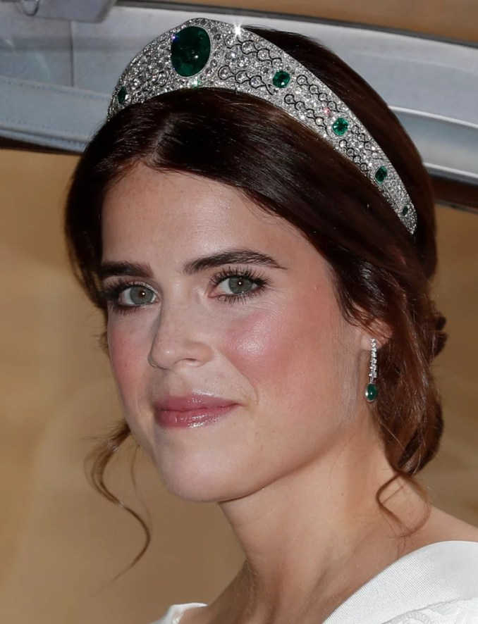 princess eugenie wedding hair and makeup | popsugar beauty