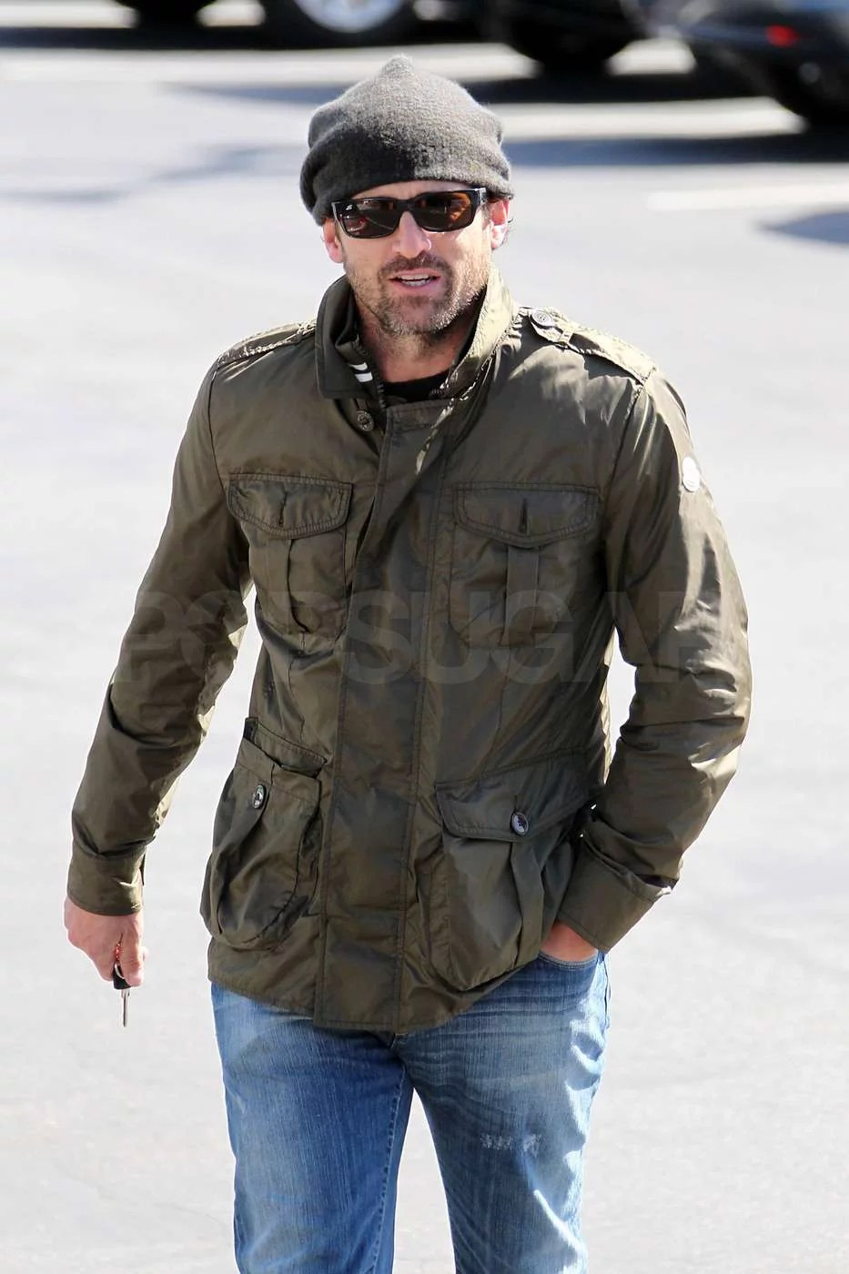 Pictures Of Patrick Dempsey Driving Around LA In A Vintage