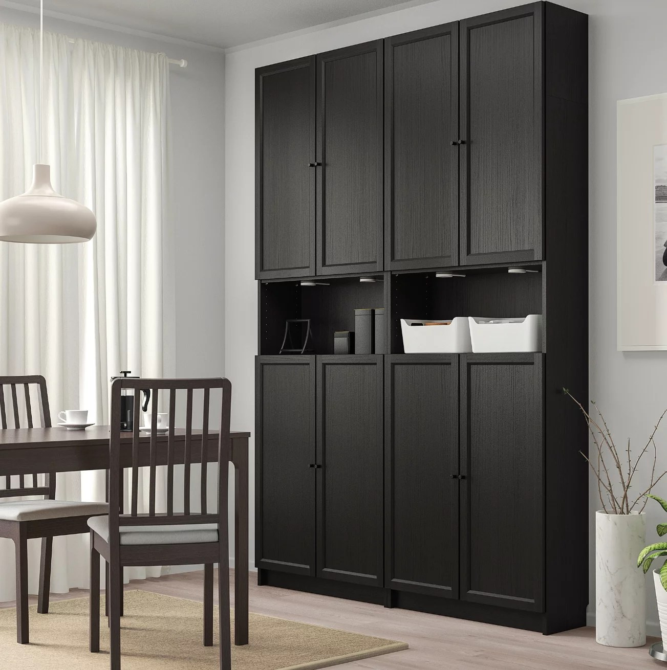 Billy Bookcase With Height Extension And Doors Small