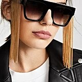 Stella McCartney Rectangular Sunglasses With Hanging Chain Detail
