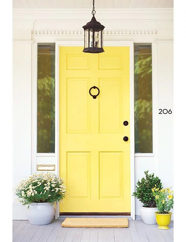 Canary Yellow Front Doors The Hottest Paint Colors For Every Room In The House Popsugar Home Photo 14