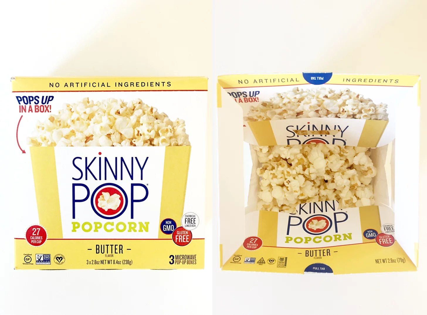 skinny pop butter flavored microwave