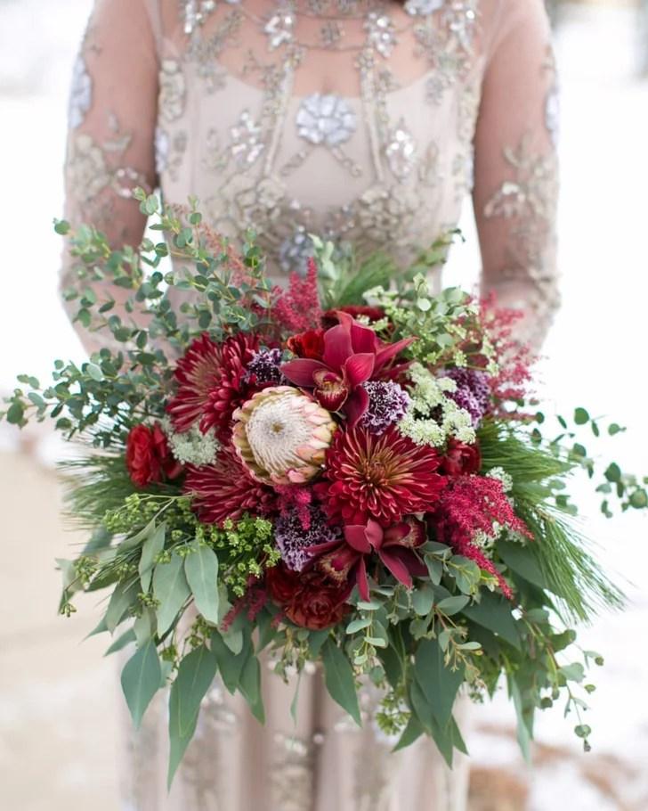 Winter Wedding Bouquets Popsugar Home