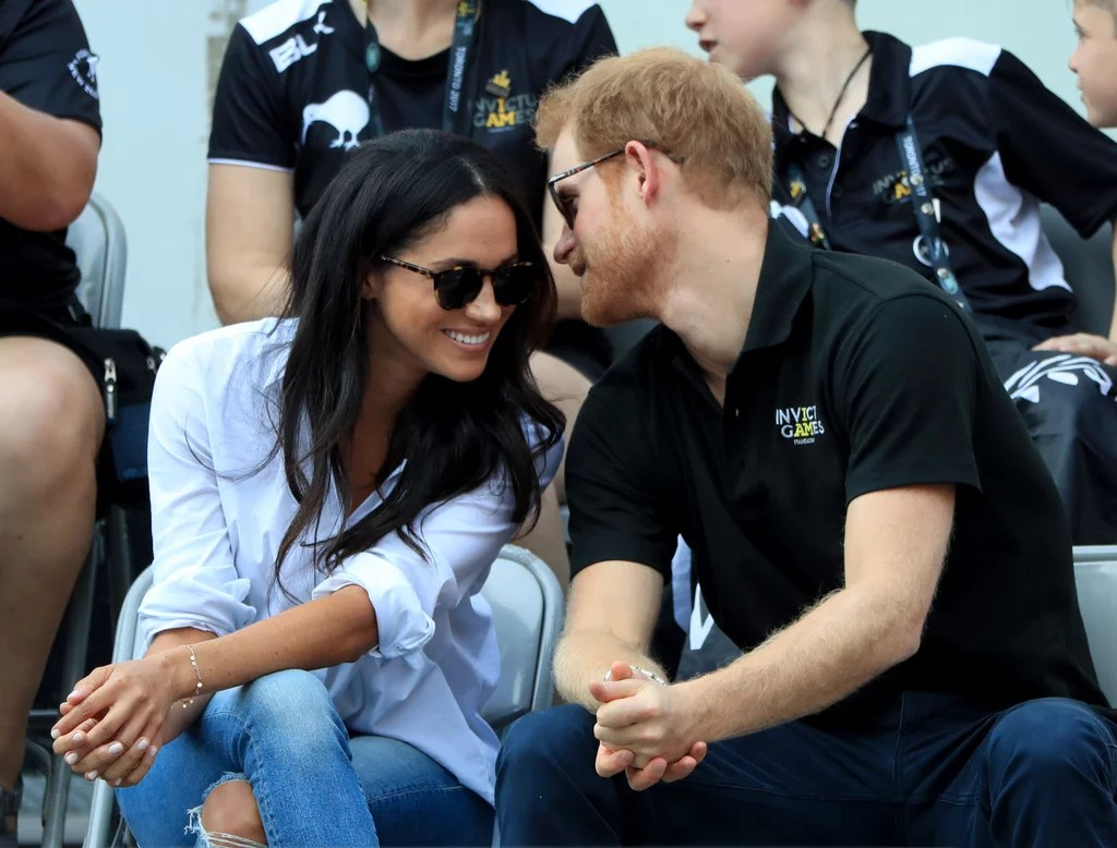 Image result for prince harry meghan markle invictus