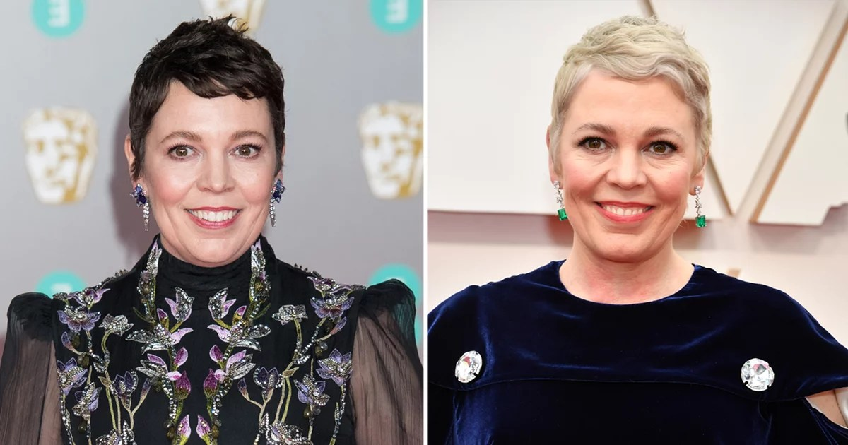 Um, Olivia Colman Dyed Her Hair Platinum Blond Just 3 Hours Before the Oscars