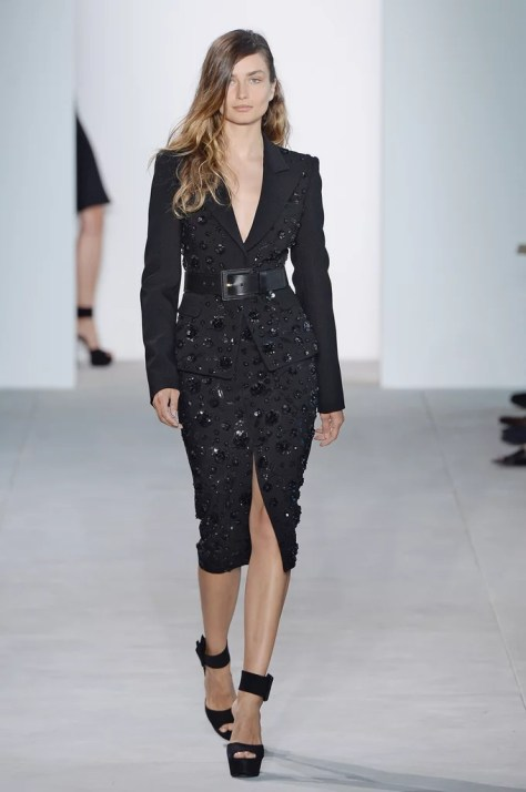 Lily's sophisticated suit debuted at the Michael Kors Collection runway show on Sept. 14 during NYFW.