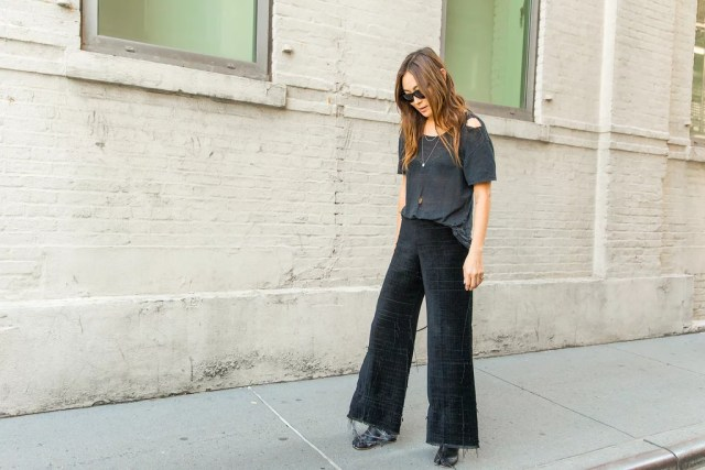 A Tee That's Gone Sheer Out of Distress and Rugged Pants