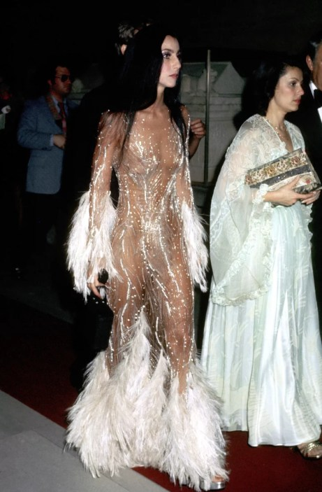 Cher at the 1974 Met Gala Ball