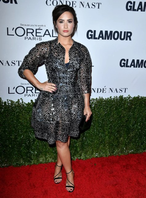 Demi Lovato Wearing Zac Posen
