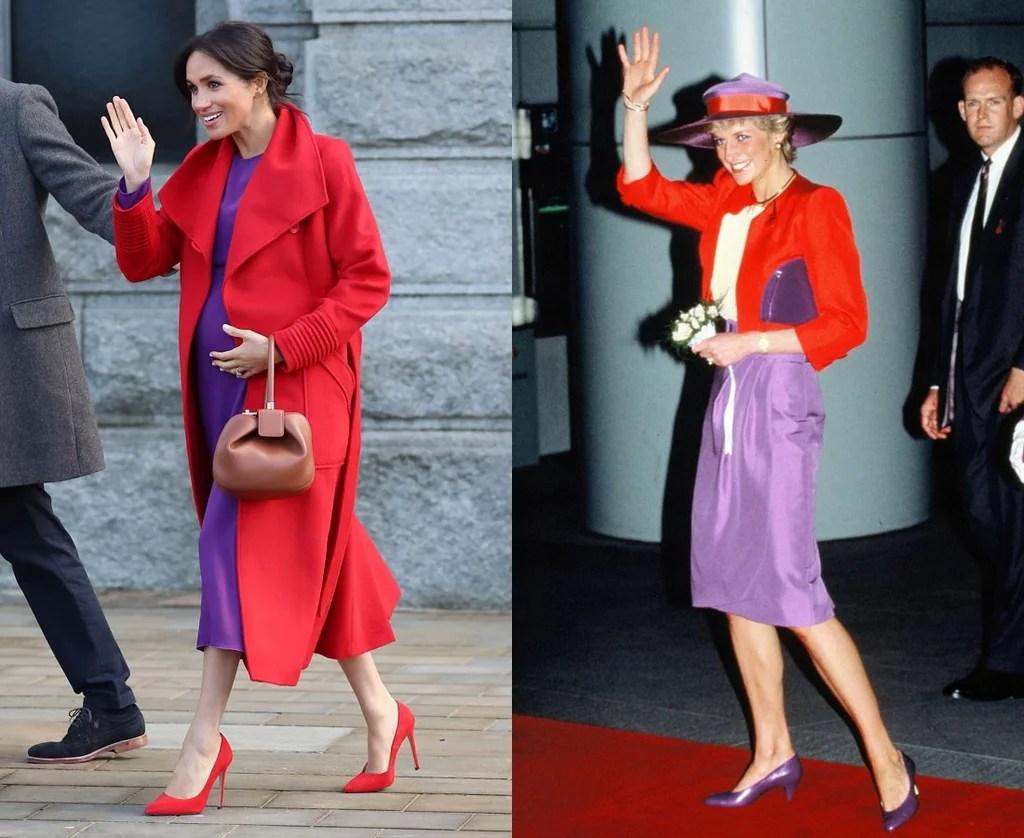 Meghan Markle Dressing Like Princess Diana Jan 2019