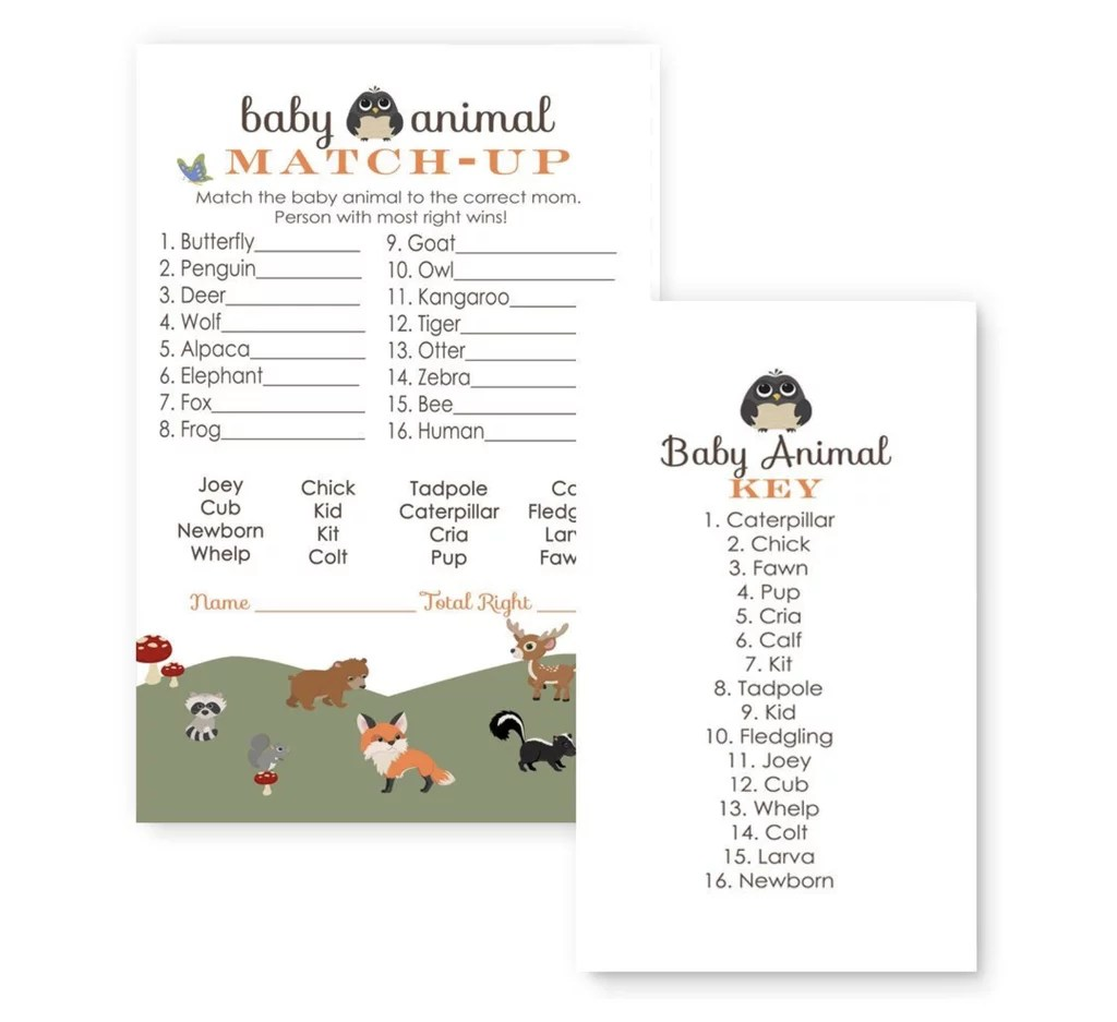 Baby Animal Match Up