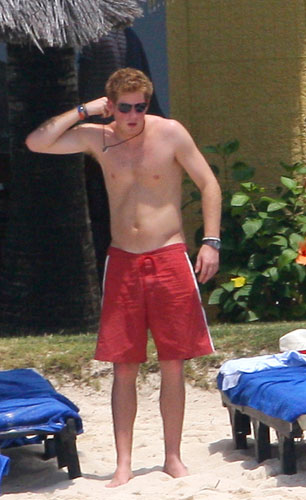 Photos of Shirtless Prince Harry with Chelsy Davy in ...