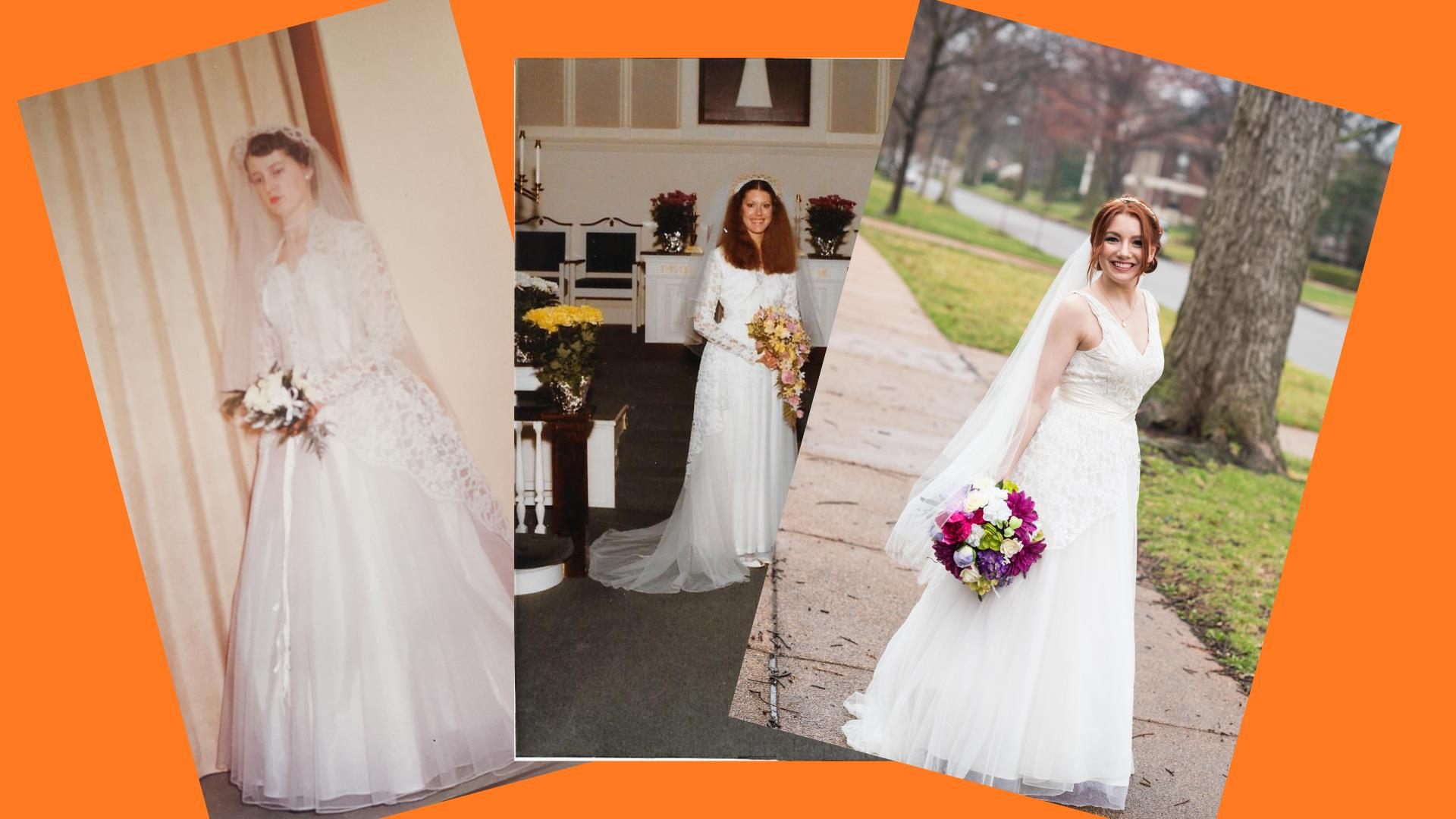3 Generations Of Women Have Worn This Wedding Dress, But