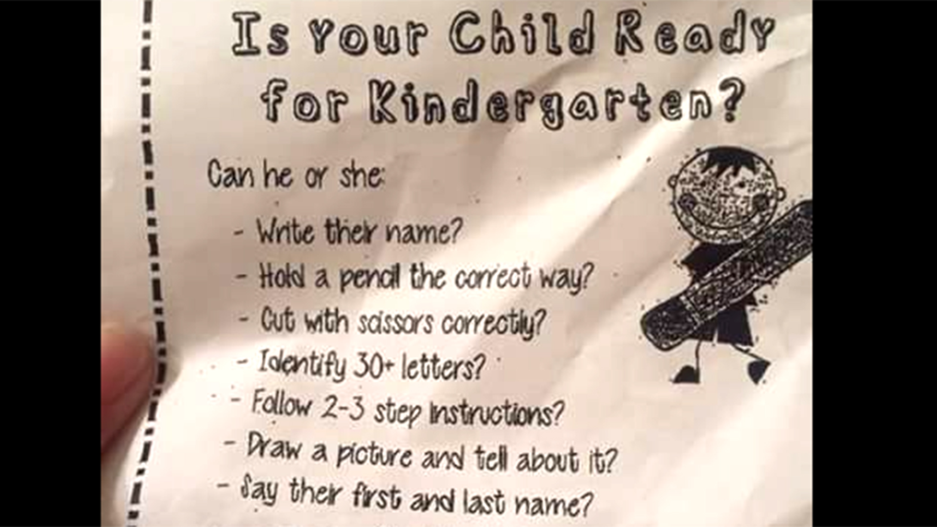 Is Your Child Ready For Kindergarten School Checklist Raises Anxiety Questions