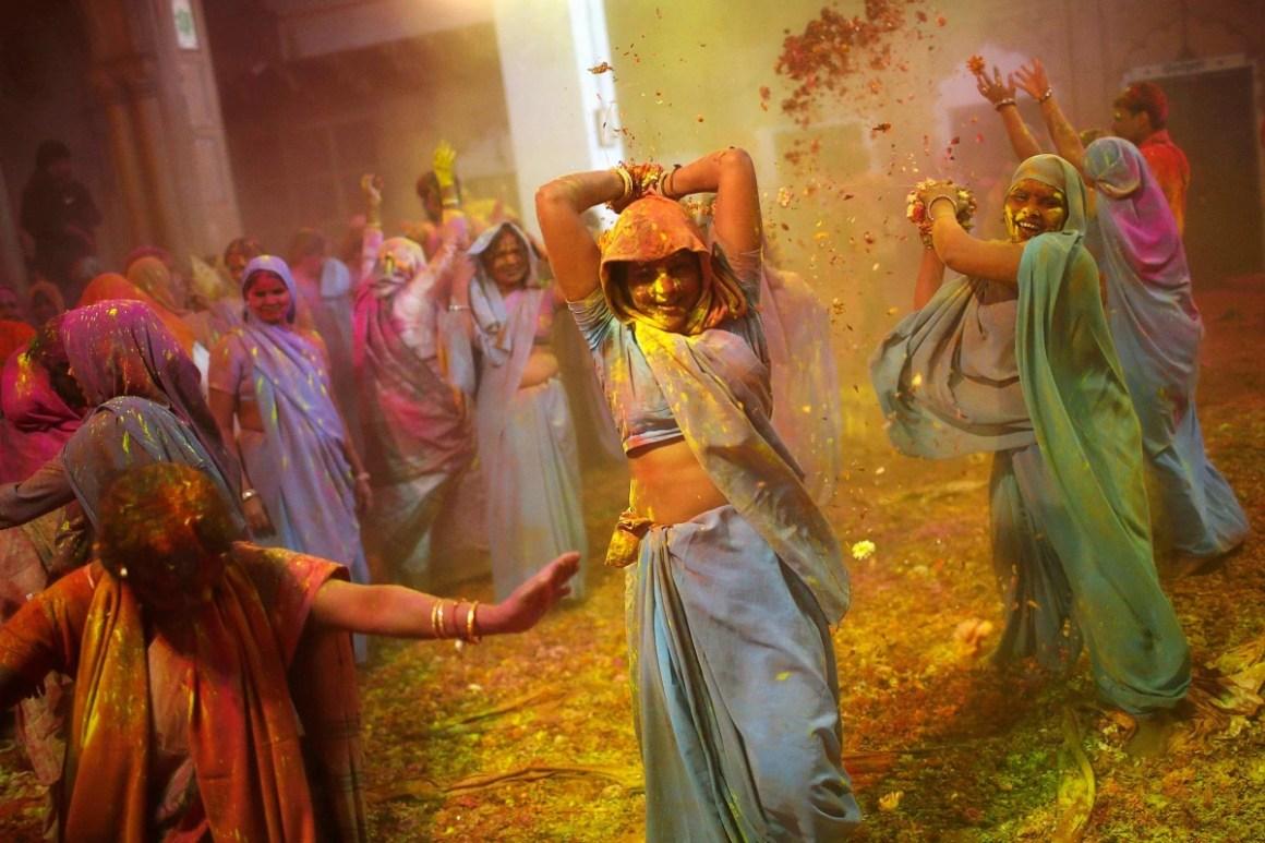 Image result for widows holi vrindavan hd