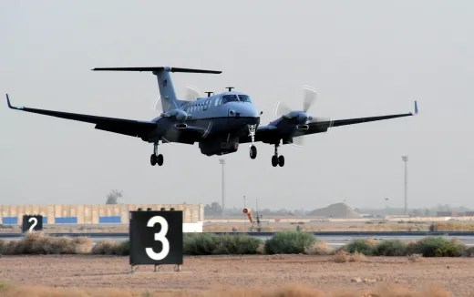 Image: The MC-12 aircraft
