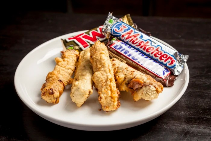 Image result for deep fried chocolate bars