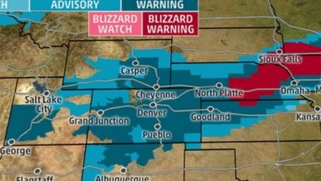 HD Decor Images » Blizzard Bearing Down on Midwest and Great Plains IMAGE  Monday night weather map
