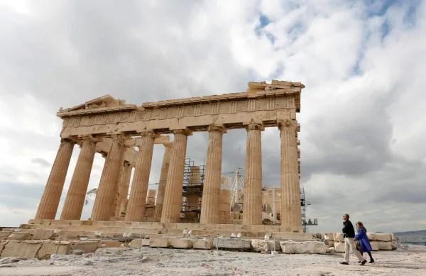 Image: President Barack Obama tours the Parthenon at the Acropolis