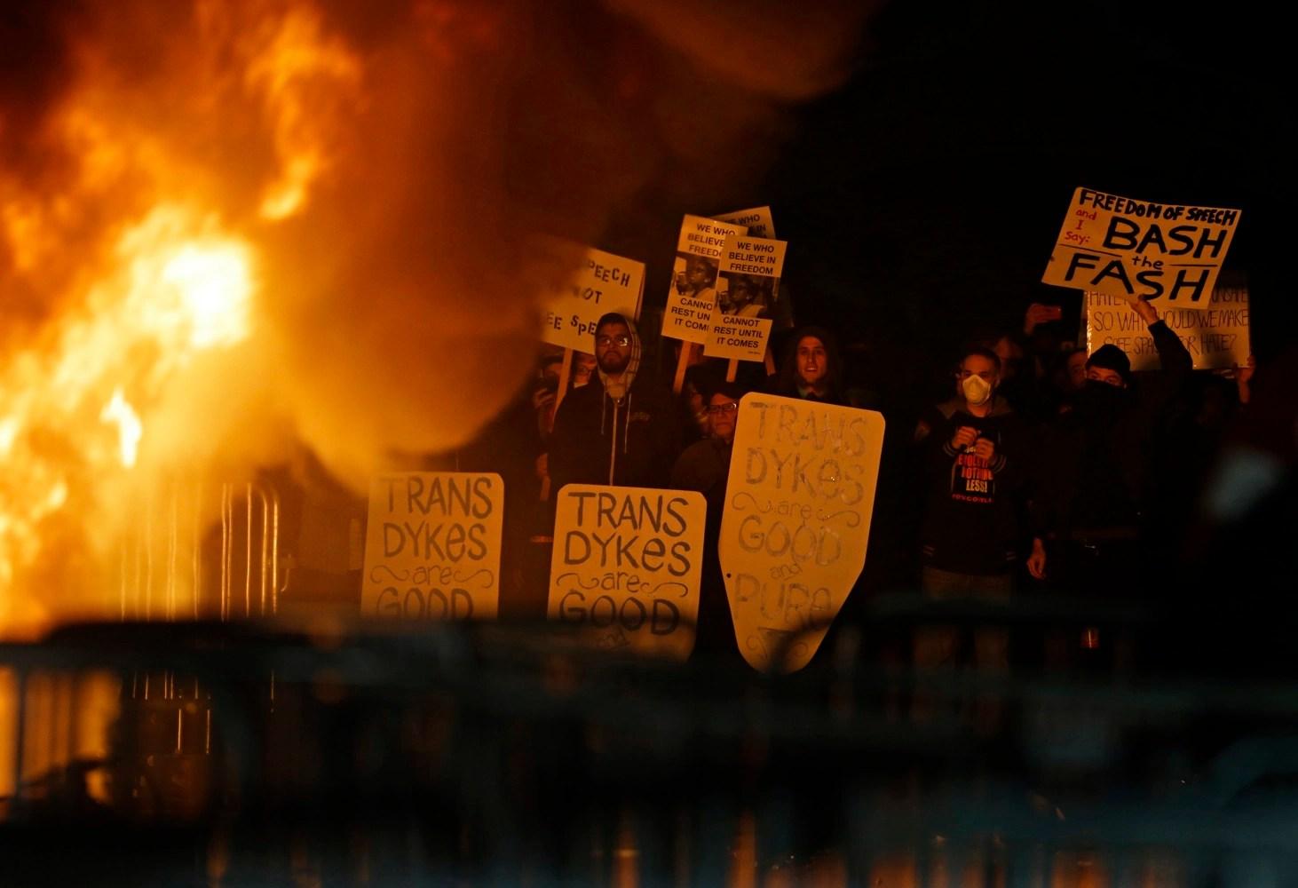 Image result for berkeley riots 2017