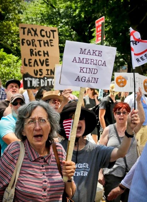 Image: Anti-Trump rally in New York