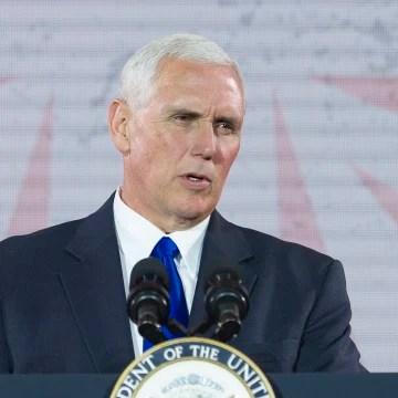 Image: Vice President Mike Pence speaks in Washington