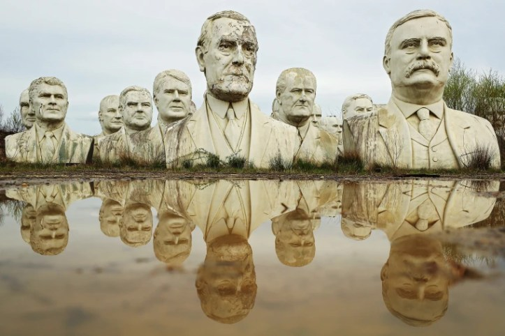 Image: Remnants Of Bankrupted Presidents Park Stored On Private Family Farm In Croaker, Virginia