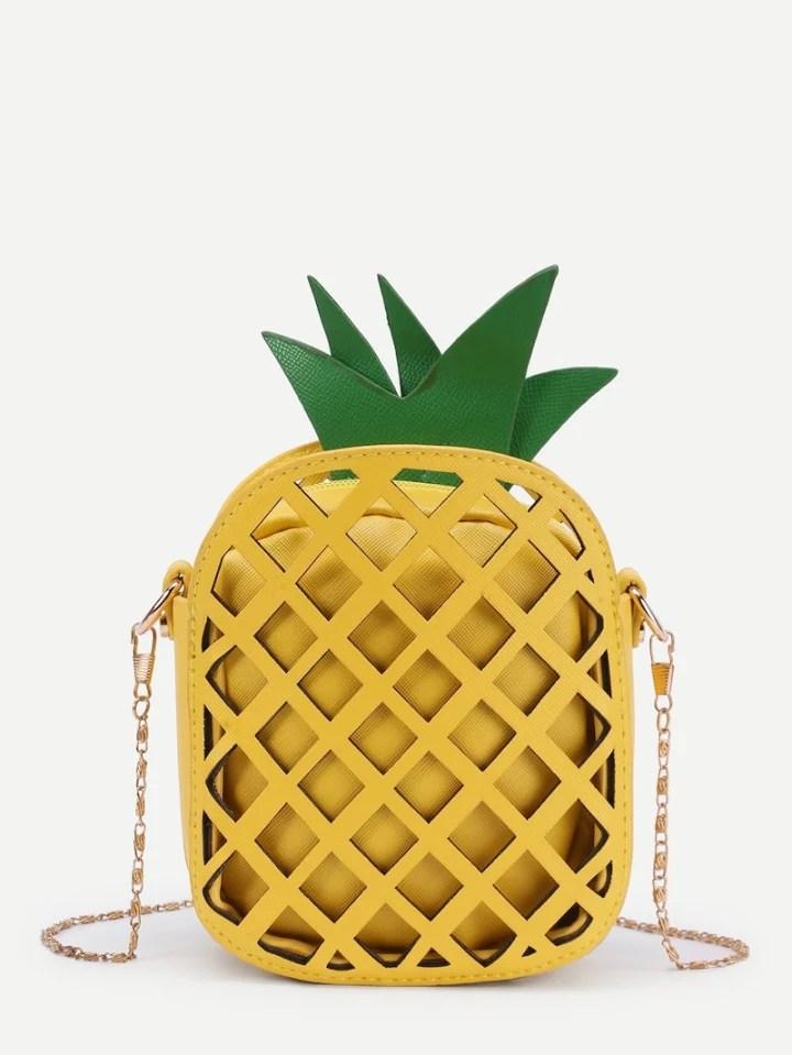 3189ee31b91e Pineapple Shaped PU Chain Crossbody Bag